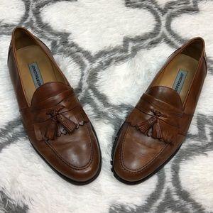 Johnston & Murphy Brown Tassel Loafers 11 M